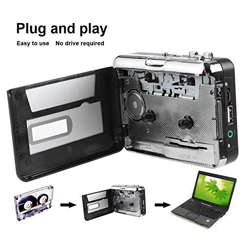 Value-5-Star - Portable Cassette Tape to MP3 Converter USB Flash Drive Capture Audio Music Player Tape to PC/MP3/Speaker convertor for Windows
