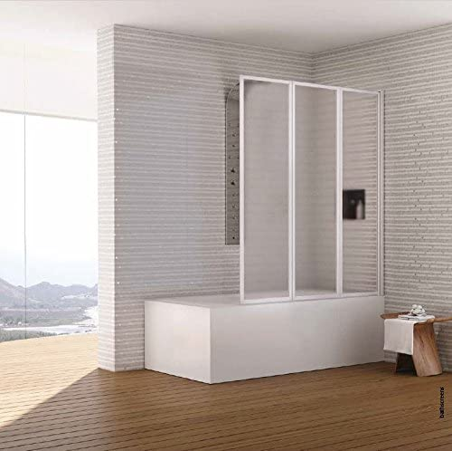 Mampara para bañera Ginevra compuesto de tres paneles (acrílico ...