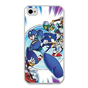 HD Beautiful image for iPhone 4 4s Cell Phone Case White Super Smash Bros. Melee Mega Man MLA7219534