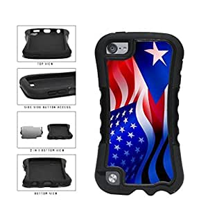 Puerto Rico and USA Mixed Flag 2-Piece Dual Layer Phone Case Back For SamSung Note 2 Case Cover Generation