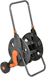 Vis Garden Hose Reel Cart with 2 Wheels and Handle Portable Water Hoses Retractable Carts Metal Retractable Handle Holds 200 Feet of 1/2-Inch Hose for Yard, Lawn, Farm,Patio.