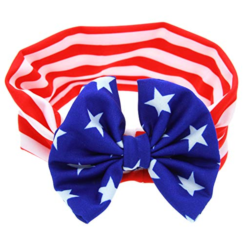 -  Orcbee  _Toddler Baby Kids Giris Boys 4th of July Hairband Flag Day Accessories (B)