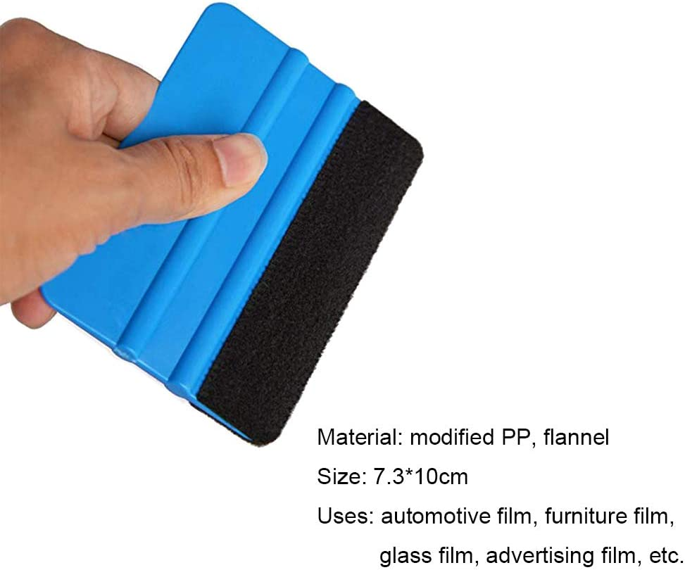 white PP Scraper Vinyl Installing Application Tool Car Wrap Paste Vinyl Squeegee Best Selling Wrapping Medium Hardness Tools Hand Application Squeegee FOSHIO 4 Inch Felt Squeegee for Car Window Tint