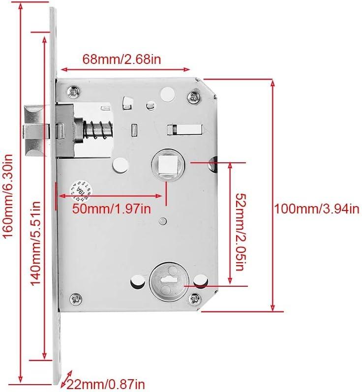 IC-Karte Fingerabdruck-Entriegelung Passwort mechanischer Schl/üssel Rote Bronze Fingerabdruck-T/ürschloss USB-Notstromversorgung Acogedor Intelligentes T/ürschloss