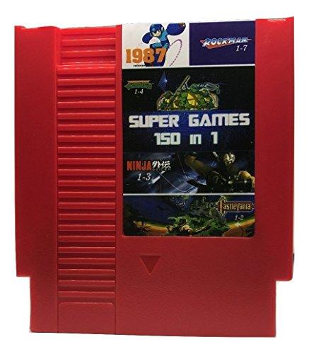 150 in 1 - NES Video Game Cartridge Mario, Kirby, Megaman, TMNT, Castlevania (RED