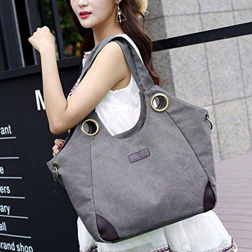 Manico Hobo il Nero Bianco Tela Borse Elegante Di Donna Signore Spalla Nclon Semplice Riso Donna Nuovo Messenger Le Bag Superiore Handbag Grande Borsa 4HwB1TqxZ