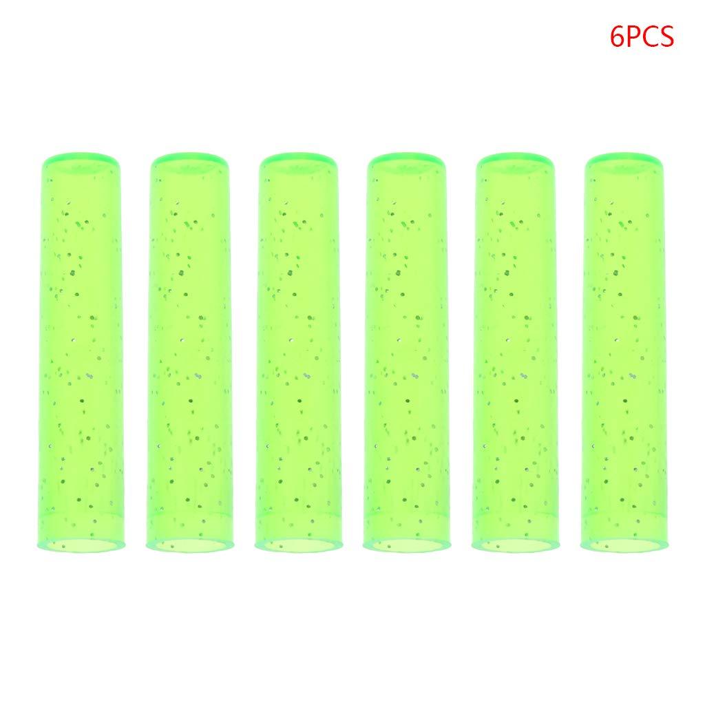 6 graziosi copri-matita in plastica estensibile per protezione scolastica rosa