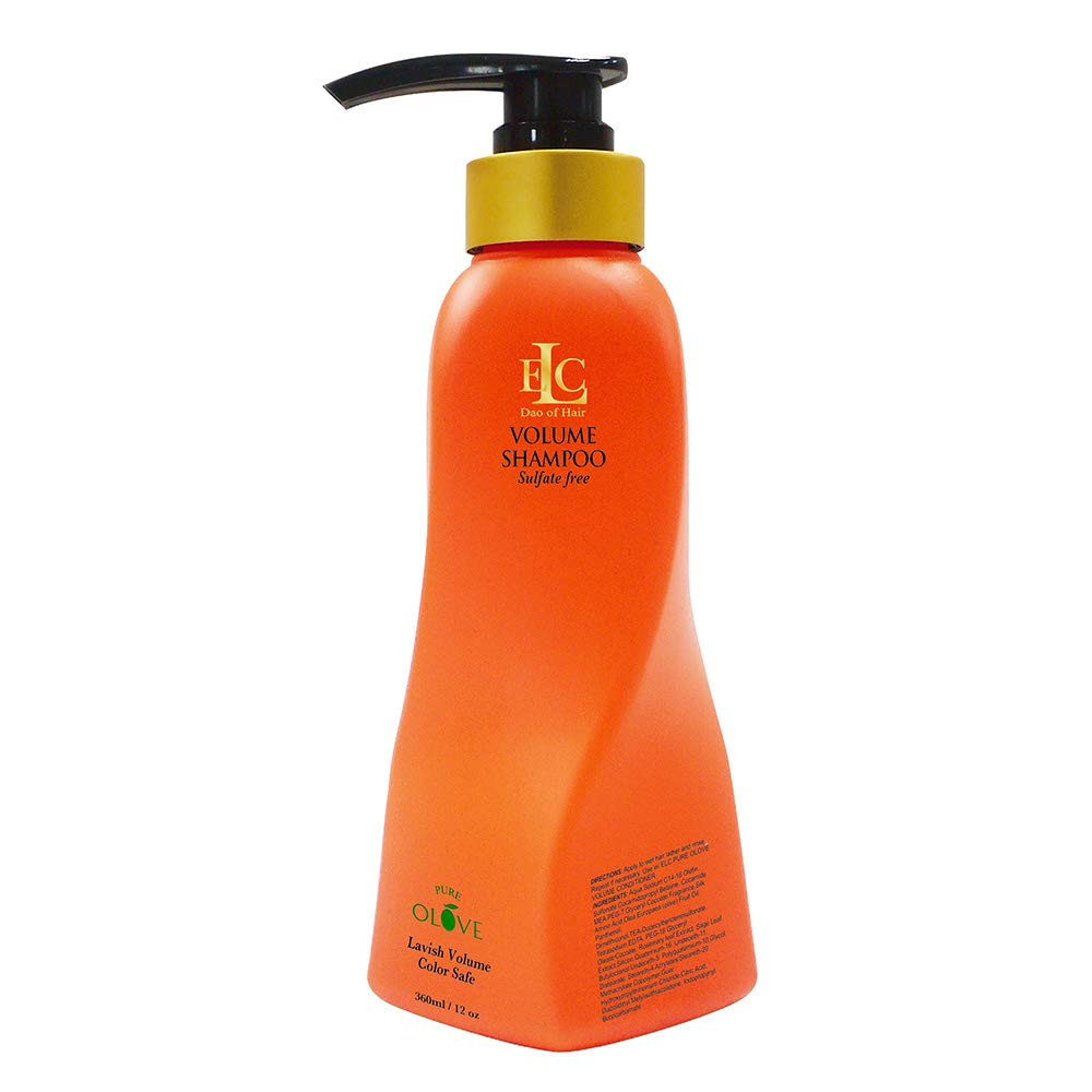 ELC Pure Olove Volumizing Shampoo - 33.8 oz, Sulfate Free, Color Safe, Thickening, Bodybuilding, Volumizing, Nourishing, Repairing, Gentle Shampoo for Fine Limp, Thin Hair. by ELC Dao of Hair