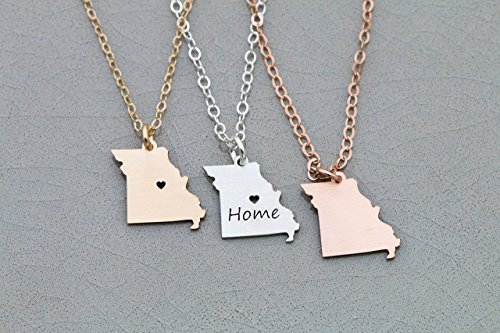 Missouri State Necklace - IBD - Personalize with Name or Coordinates – (Business Ornament)
