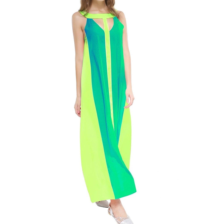 KAGU CULTURE Lange Maxi Kleid, sexy Damen Sommer Chiffon BOHO ...