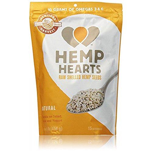 Manitoba Harvest Hemp Hearts Raw Shelled Hemp Seeds, Natural, 1 Pound