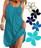 Ecolley Sexy Beach Dress Bikini Swimsuit Cover Ups for Women Casual Relaxed Fit Plain Round Neck Size L