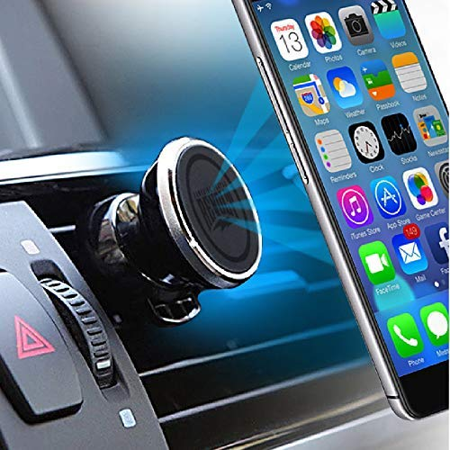 VENTGRIP Car Phone Mount - Magnetic Holder - Vent Clips on to Auto AC Vent - Spark Revolt - 2 Pack