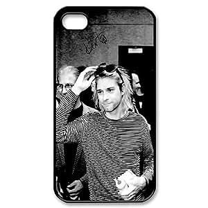 Custom Kurt Cobain Plastic Case for iPhone 4, iPhone 4S, DIY Kurt Cobain Iphone 11 Shell Case, Customized Kurt Cobain Phone 4S Cover Case