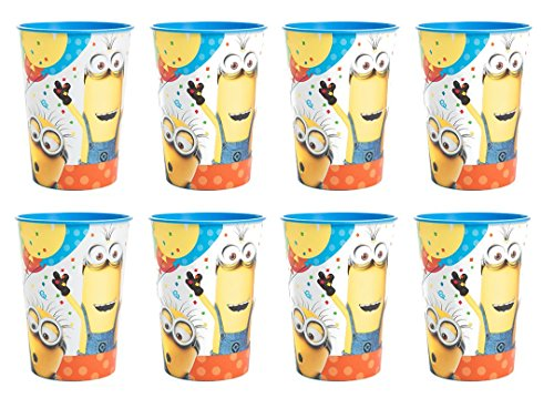 Despicable Me 3 Plastic Reusable Keepsake Cups Favor Container (8 count) Birthday Party (Despicable Me Cups)
