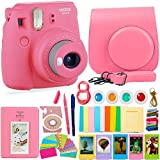 FujiFilm Instax Mini 9 Camera 11 PACK BUNDLE – Flamingo Pink