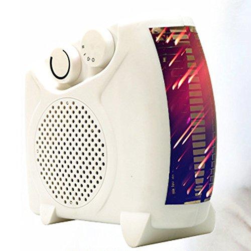 Mini calentador de cerámica portátil 500 W ventilador eléctrico de espacio ajustable calentamiento rápido sin ruido...