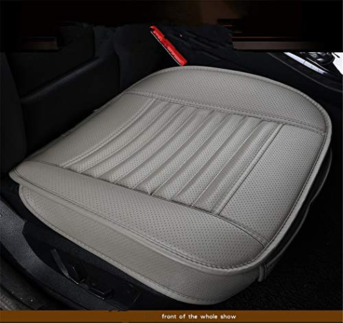 Bamboo Charcoal PU Leather Seat Covers Auto Seat Cushion Pad for Car Front Seats,1 Piece (bamgray)