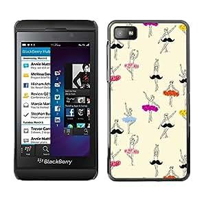 SKCASE Center / Funda Carcasa - Bailarina Art Dibujo;;;;;;;; - Blackberry Z10