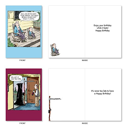 A2668BDG DAVE COVERLY'S JOY OF AGING: Assorted Box Of 10 Hilarious Birthday Cards, W/12 Envelopes (10 Designs, 1 Card Per Design) Photo #4