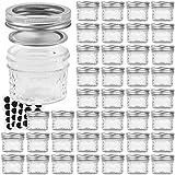 VERONES Mason Jars Canning Jars, 4 OZ Jelly Jars With Regular Lids and Bands, Ideal for Jam, Honey, Wedding Favors, Shower Favors, Baby Foods, DIY Magnetic Spice Jars, 40 PACK