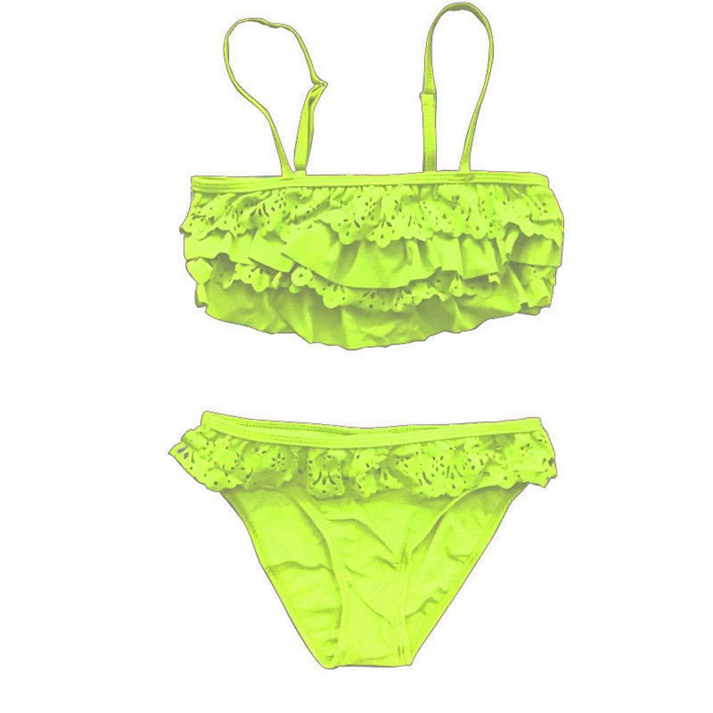 Daynice Kids Swimsuit Bikini Nylon Swimwear Bathing Suit 2 PCS Plus Size Female High Waist Triangle Swimsuit for Girls