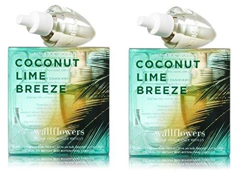 Coconut Lime Breeze Wallflower - FOUR Refill Bulbs - Bath &