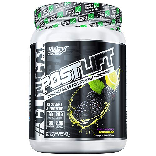 Lift Post (Nutrex Research Postlift | Clinically Dosed Post-Workout Powerhouse | Cluster Dextrin, Glutamine, Betaine Anhydrous, EAA's, Electrolytes | BlackBerry Lemonade)