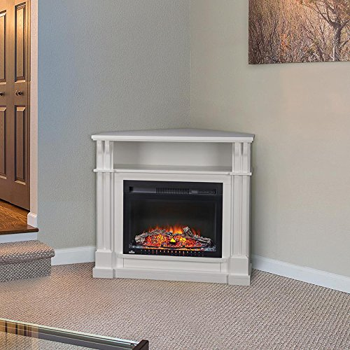Napoleon Cogan 38-inch Electric Fireplace Mantel Package With 24-inch Cinema Firebox - White - ()