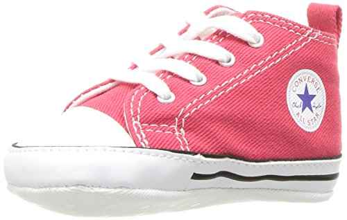Converse Kid's First Star High Top Shoe, red, 2 M US Infant Converse Red Shoes