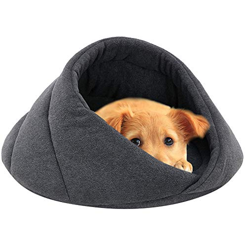 (YJYdada Pet Dog Bed, Soft Fleece Winter Warm Pet Dog Bed Small Dog Cat Sleeping Bag Puppy Cave Beds (S,)