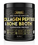 Collagen Peptides & Bone Broth by Warrior Strong Wellness: Pure Grass-Fed Hydrolyzed Collagen Powder Boost for Healthy Skin, Nails, Hair, Joints & Muscles, No Gluten, Non-GMO Unflavored