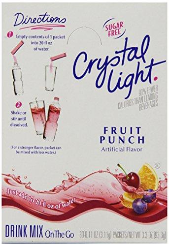 Crystal Light On-the-Go Fruit Punch Mix, 2.4 oz. pack, Pack of 30 (Fruit Crystal Go Punch The Light On)