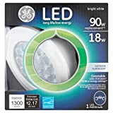 GE Lighting 89992 LED 18-watt (90-watt replacement), 1300-Lumen PAR38 Outdoor Floodlight, Bright White, 1-Pack