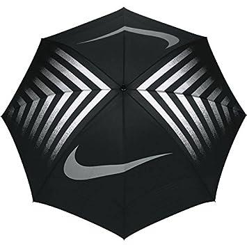 Nike 62 Windsheer Lite III Paraguas de Golf, Hombre, Negro (Black/Silver