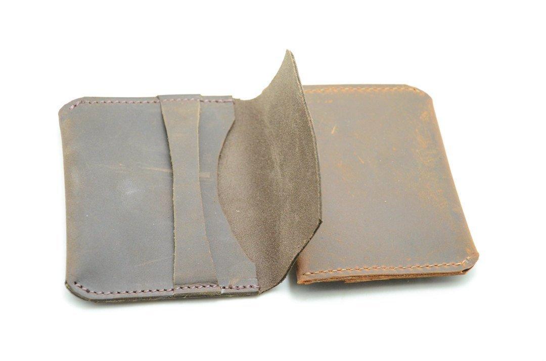 Groomsmen Bridesmaids Geschenke Minimalist Wallet Leder, Kreditkarte ...