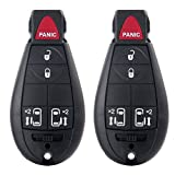 Scitoo 2 Replacement Key Fob Keyless Remote Start Transmitter For Fobik Sliding Doors 2008-2015 DODGE CHRYSLER JEEP M3N5WY783X,IYZ-C01C