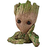 Unique Shape Marvel Avengers Infinity War Groot Wooden Look Tree Statue Busts Cum Pen Container- Tree Man
