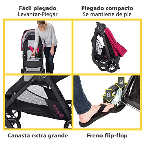 51NeoA1ZjaL - Safety 1st Smooth Ride Travel System With OnBoard 35 LT Infant Car Seat, Sangria