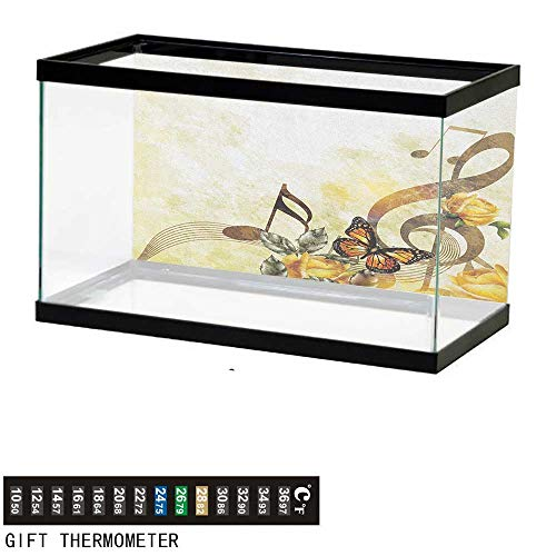 - Jinguizi MusicFish Tank BackdropMusic Roses Romantic Antiquity Victorian Classic Bridal Floral Illustration30 L X 18