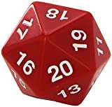 Koplow Games Red Jumbo Dice D20 Count Down 55mm Dice by
