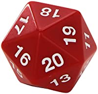 Red Jumbo Dice D20 Count Down 55mm Dice by Koplow Games