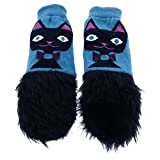 mimiTENS Fuzzy Long Sleeve Warm Winter Mittens (Black Cat) by mimiTENS
