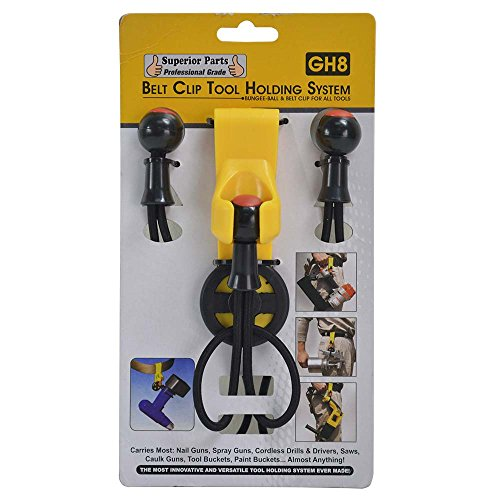 Superior Parts GH8 Rubber Belt Hook Tool Holder System with 3 Ball Bungees