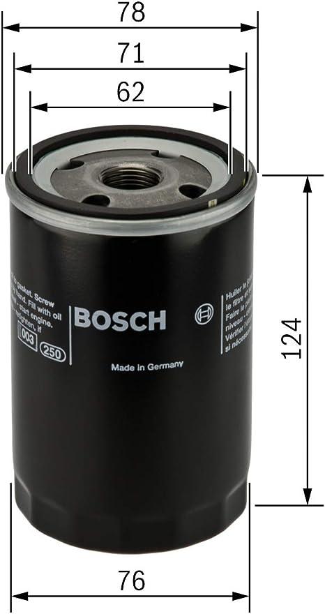 BOSCH Oil Filter Fits MERCEDES SL S E-Class Kombi C124 190 W201 1.8-3L 1982-1996