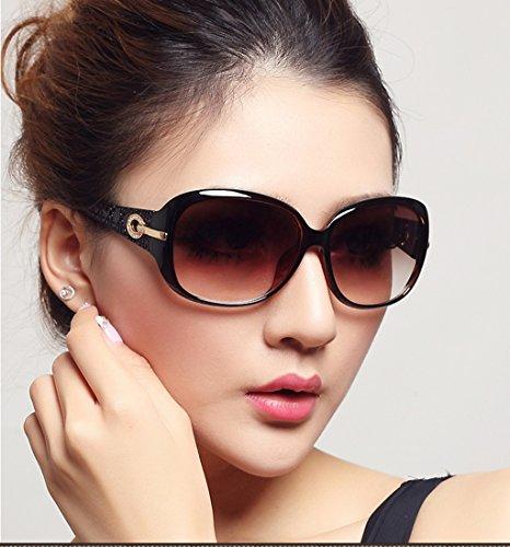 del sol de sol Polarizer de señoras amp; X165 las marco de gafas LYM grandes de protecciónn de Color de A la gafas A las amp;Gafas de sol Gafas manera vqBgYwR