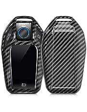 kwmobile autosleutelhoes compatibel met BMW Display Key autosleutel - hardcover beschermhoes - Carbon - zwart