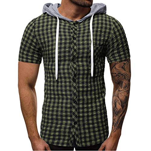 iHPH7 Vest for Men Tank Tops for Men Tank top Long Tank Tops Vest Sleeveless Shirts for Men Sleeveless Compression Shirts for Men Sleeveless t Shirt XXL 2- Army Green