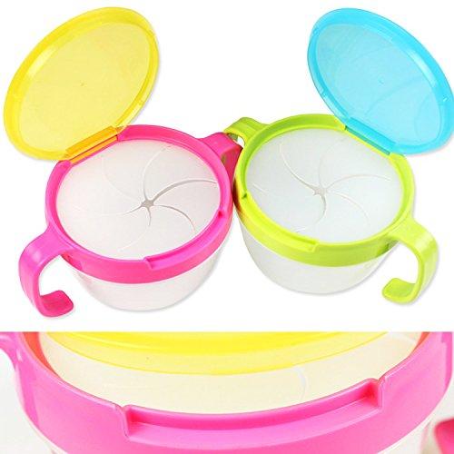 Baby Snack-Box, aa-isuper Snack Tasse anti-fuite Fruits Cookie Snacks Boîte pour enfants de 1–3ans, 9x 6cm, couleur aléatoire