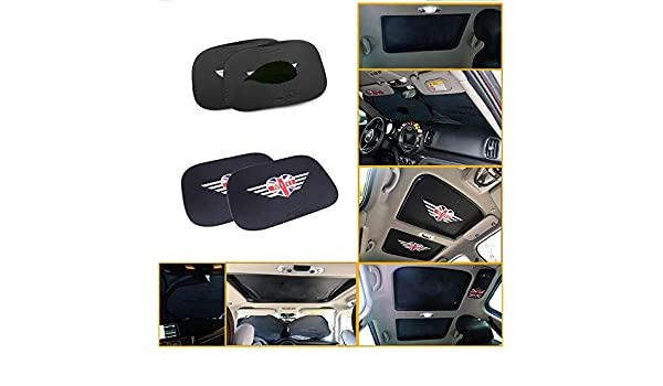 QIDIAN Visera para el Coche Parabrisas Bloques Rayos UV Protector Solar Plegable para Mini Cooper S One R50 R52 R55 R56 R60 R61 F54 F55 F56 F57 F60 Countryman 1 PC Visera Delantera//Trasera Mini